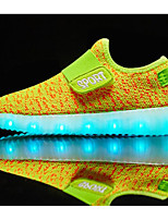 Boys' Shoes Tulle Spring Fall Comfort Sneakers For Casual Pink Green Yellow Orange
