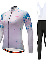Cycling Jersey with Bib Tights Women's Long Sleeves Bike Bib Tights Tights Pants / Trousers Jersey Top Clothing Suits Quick Dry 3D Pad