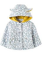 Girls' Geometric Jacket & Coat Long Sleeves Blue
