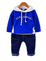 cheap -Boys' Letter Clothing Set,Cotton All Seasons Long Sleeve Casual Active Blue Yellow