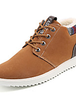 cheap -Men's Shoes PU Winter Fall Comfort Sneakers For Outdoor Brown Black