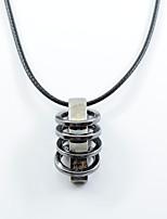 мужские женские подвесные ожерелья круговые сплавы хип-хоп крест ювелирные изделия для ежедневной улицы