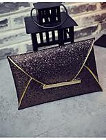 Women Bags All Seasons PU Clutch Zipper for Casual Champagne Gold Black