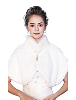 Sleeveless Faux Fur Wedding Party / Evening Women's Wrap With Pattern / Print Crystals/Rhinestones Capelets