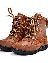 cheap -Girls' Shoes Pigskin Winter Snow Boots Boots Booties/Ankle Boots for Casual Brown