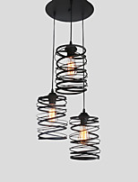 3 head Vintage Loft Metal Spiral Shade Pendant Lights Kitchen Cafe Dining Room Decoration lighting Painted Finish
