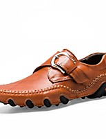 Для мужчин обувь Натуральная кожа Оксфорд Кожа Полиуретан Весна Осень Удобная обувь Мокасины Светодиодные подошвы Обувь для дайвинга