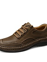 Men's Shoes Real Leather Cowhide Nappa Leather All Season Driving Shoes Formal Shoes Comfort Oxfords For Casual Office & Career Dark