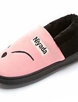 Women's Shoes Rubber Winter Comfort Slippers & Flip-Flops Round Toe for Outdoor Black Red Pink