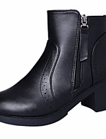 cheap -Women's Shoes Rubber Winter Fashion Boots Boots Round Toe For Outdoor Black