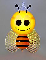 1pc ha condotto l'ape poco costosa della decorazione della luce di notte della rgb& lampada per bambini farfalla per arredamento casa