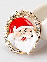 Men's Women's Brooches Rhinestone Simple Basic Rhinestone Alloy Round Jewelry For Christmas