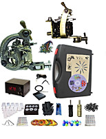 Basekey Pro Tattoo Kit  Optimus 2 Machines  With Power Supply Grips Cleaning Brush  Needles