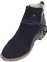 abordables -Mujer Zapatos Goma Invierno Botas de Combate Botas Dedo redondo Para Negro Almendra