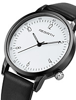Women's Casual Watch Fashion Watch Wrist watch Chinese Quartz Casual Watch Leather Band Casual Elegant Black White