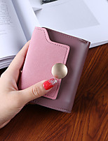 Women Bags PU Wallet Buttons for Shopping Casual All Season Green Black Gray Purple Brown