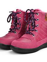Недорогие -Девочки обувь Свиная кожа Зима Осень Удобная обувь Зимние сапоги Ботинки Для прогулок Сапоги до середины икры Шнуровка Назначение