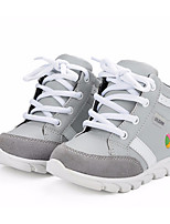 cheap -Boys' Shoes Real Leather Spring Fall Comfort Sneakers for Casual Gray
