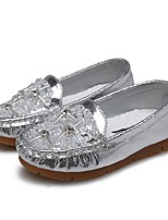 cheap -Girls' Shoes Leatherette Spring Fall Comfort Flats Rhinestone Crystal Sparkling Glitter for Wedding Dress Gold Silver Pink