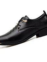 Men's Shoes Synthetic Microfiber PU Spring Fall Light Soles Oxfords For Casual Black
