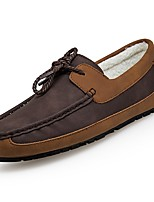 Men's Shoes PU Winter Moccasin Comfort Loafers & Slip-Ons For Casual Brown Gray
