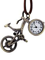 Недорогие -Муж. Жен. Карманные часы Китайский Кварцевый Повседневные часы Кожа Группа Винтаж Коричневый