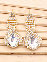 Women's Drop Earrings Sweet Elegant Crystal Alloy Drop Jewelry For Wedding Party