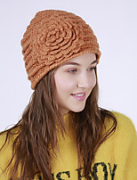 cheap -Women's Acrylic Floppy HatVintage Cute Casual Flower Winter Flower Yellow Beige Orange Blue
