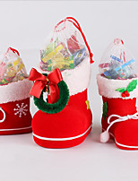 cheap -Decorations Children's Gift Candy Boots Decorations Small Gift Bag Holiday Stockings