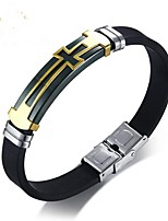 cheap -Men's Bangles Fashion Hard Plastic Steel Alloy Cross Jewelry For Gift Daily
