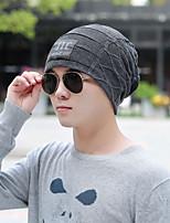 Недорогие -Унисекс Для офиса На каждый день Широкополая шляпа,Зима Вязанная Один цвет Трикотаж Черный Серый
