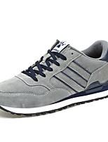 Недорогие -Для мужчин обувь Тюль Свиная кожа Зима Осень Удобная обувь Кеды Назначение Повседневные Серый Синий