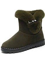 cheap -Women's Shoes Cashmere Winter Snow Boots Boots Round Toe Mid-Calf Boots Rhinestone For Casual Green Gray Black