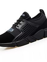 Недорогие -Для мужчин обувь Полиуретан Весна Осень Удобная обувь Кеды для Повседневные Черно-белый Черный / синий