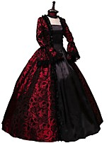 Party Costume Masquerade Steampunk® Elegant Lace-up Victorian Cosplay Lolita Dress Red Vintage Long Sleeves Dress For