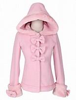 Недорогие -Сладкое детство Принцесса Шерсть Жен. Взрослые Девочки Пальто Косплей Розовый Длинный рукав