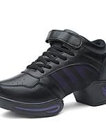 """economico -Da donna Sneakers da danza moderna Tulle Sneaker Da allenamento A fantasia Plateau Bianco Nero 1 """"- 1 3/4"""""""