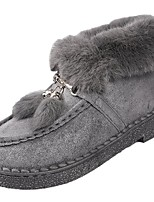 cheap -Women's Shoes PU Winter Fall Light Soles Boots Round Toe For Casual Khaki Gray Black