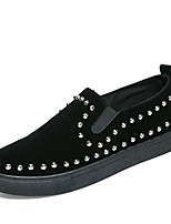 Men's Shoes Suede Fall Winter Comfort Loafers & Slip-Ons Basketball Shoes Rivet For Casual Party & Evening Black/White Red Black