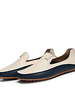 cheap -Men's Shoes PU Spring Fall Comfort Loafers & Slip-Ons for Outdoor Beige Blue
