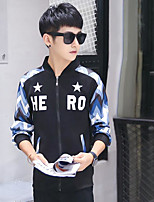 cheap -Men's Daily Going out Sweatshirt Print Stand Micro-elastic Polyester Long Sleeves Winter Fall