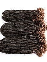 3pc/pack Senegal Crochet Braids Curly Weave End 12inch Senegalese Twist Braiding 20roots 100% Synthetic Fiber Ombre Brown Burgundy Color 6pc One Head