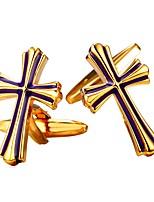 Cufflink Tie Bar Tie Clip  Brass Platinum Plated Gold Plated Retro/Vintage Cufflinks Party Christmas Men's