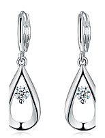 Women's Drop Earrings Rhinestone Simple Style Elegant Silver Rhinestone Drop Jewelry For Wedding Party