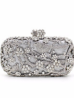 Women Bags Polyester Evening Bag Buttons for Event/Party All Season Gold Silver