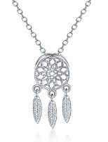 Жен. Ожерелья-бархатки Ожерелья с подвесками Стразы Серебрянное покрытие Простой На каждый день Классический Мода Бижутерия Назначение