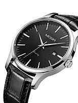 abordables -MEGIR Hombre Mujer Reloj Casual Reloj de Moda Reloj de Vestir Reloj de Pulsera Cuarzo Calendario Piel Banda Casual Elegant