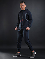 Men's Running Jacket Long Sleeves Fitness Breathability Tracksuit for Running/Jogging Fitness Cotton Polyster Royal Blue Grey Black White