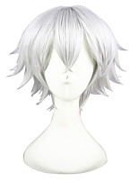 cheap -12inch Shhort Silver White The kingdom of Sleeping and 100 princes Wig Synthetic Anime Cosplay Wigs CS-273C