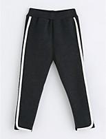 economico -Pantaloni Da ragazza Cotone A strisce Inverno